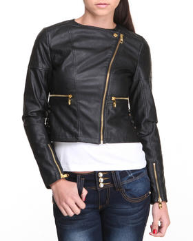 Steve Madden - Kelly Lightweight Vegan Leather Jacket W/ Diamond Quilted Details