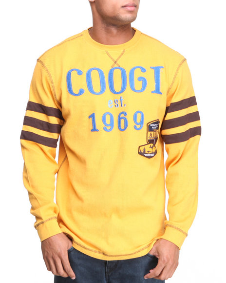 COOGI - Men Yellow Coogi Ultimate Club L/S Thermal Shirt