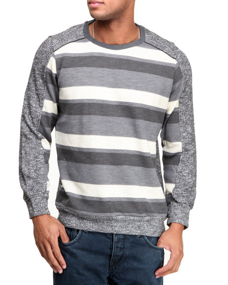 MO7 Grey Mo7 Stripe L/S Shirt