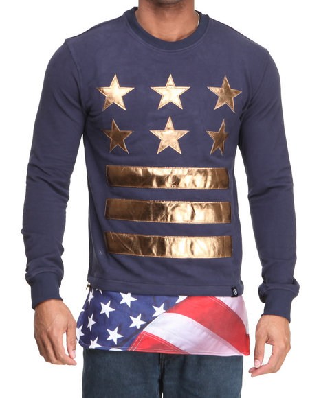 Hudson NYC Navy General Of Armies Crewneck Sweatshirt