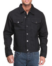 MO7 - Mo7 Jet Black Classic Denim Jacket