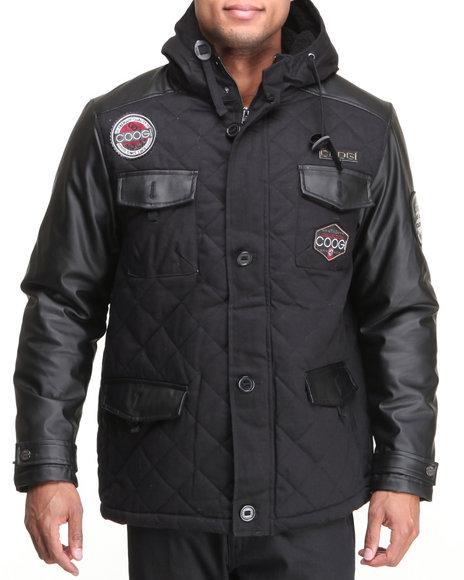 COOGI Black Coogi Quilted Hoodie Jacket