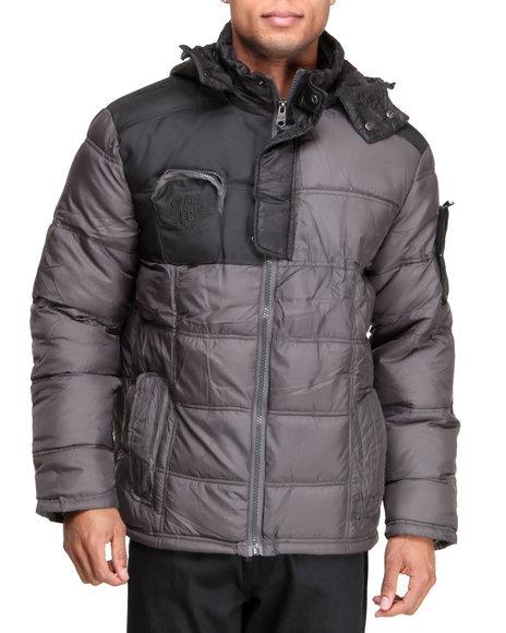 COOGI Charcoal Coogi Nylon Puffer Jacket