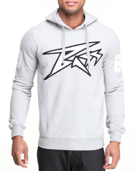 Bass By Ron Bass Grey Bass Face Hoodie