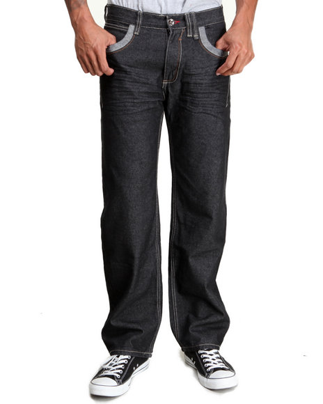 Coogi - Men Dark Wash Coogi Stripe Denim Jeans