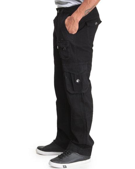 Coogi - Men Black Coogi Legacy Cargo Pants