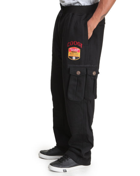 COOGI Black Coogi Ultimate Club Cargo Fleece Sweatpants