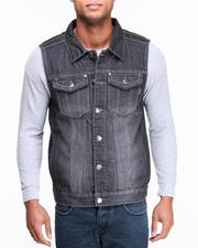 Men - Mo7 Coated Denim Vest