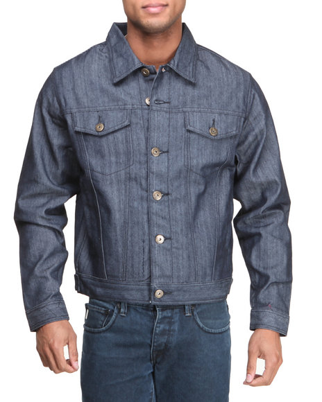 Mo7 - Men Dark Wash Mo7 Dark Indigo Classic Denim Jacket