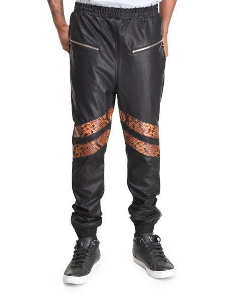 Rolling Paper Black Mixed Pu Sweatpant