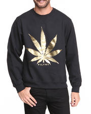 Men - Leaf Foil Crew Sweater