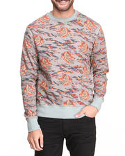 Sweatshirts & Sweaters - Tiger Print French Terry Premium Sweatshirt