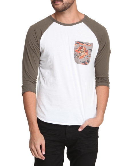 Under Two Flags - Slub Baseball Pocket Raglan Shirt