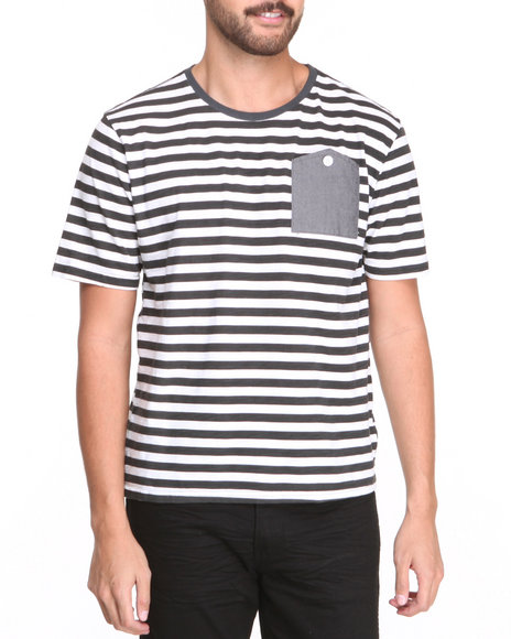 Under Two Flags Multi Patch Pocket Striped Slub Jersey Premium Tee