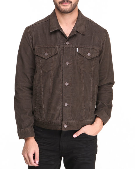Levi's Brown Relaxed Trucker Soil Corduroy Jacket