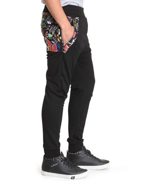 Bass By Ron Bass Black Bass Show Fleece Pants
