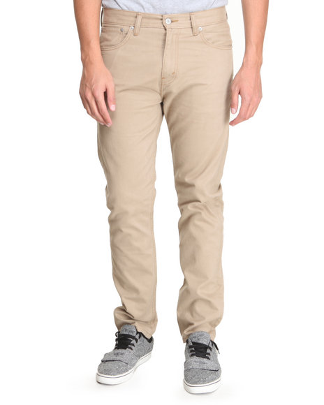 Levi's - Men Khaki 508 Regular Taper Fit British Khaki Twill Pants