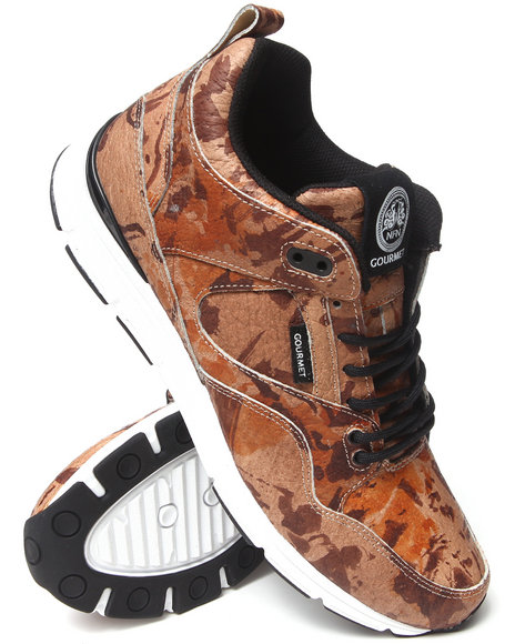 Gourmet - Men Tan The 35 Lite Camo Sneakers