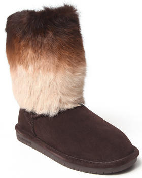 "Bearpaw - Keely Rabbit Fur Animal Print 9"" Boot"
