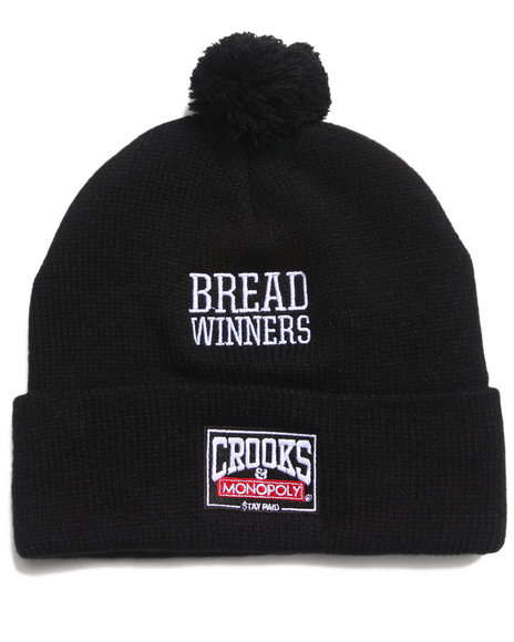 Crooks & Castles The Winning Pom Pom Beanie Black