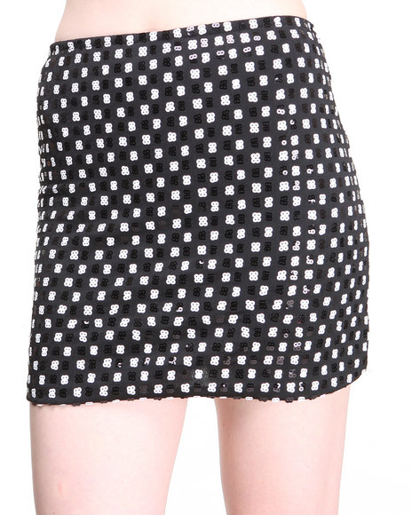 Motel Black Apple Skirt
