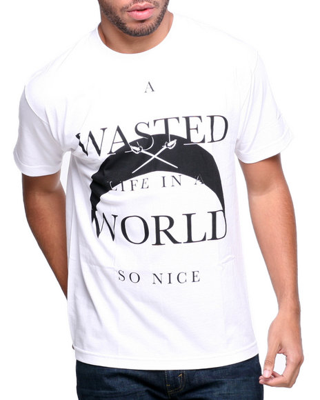 BLVCK SCVLE White A Wasted Life Tee