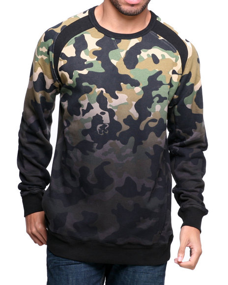BLVCK SCVLE Camo Destro French Terry Crewneck Sweatshirt