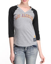 Tops - Lakers Baseline Henley Tee