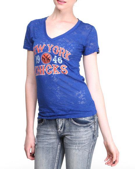 NBA MLB NFL Gear - NY Knicks Fast Break V-Neck Tee