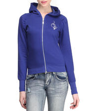 Holiday Shop - Women - Cropped Zip Front Hoodie