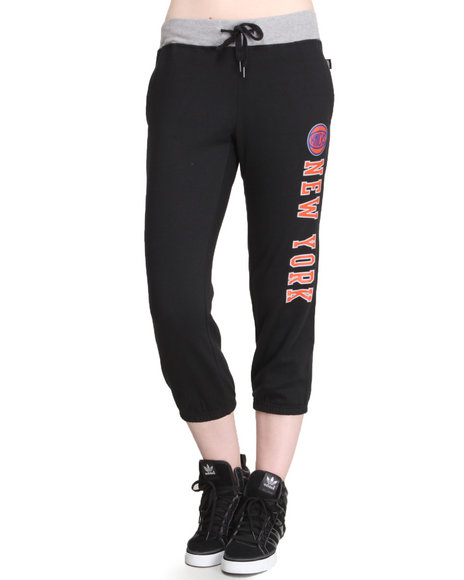 Nba Mlb Nfl Gear - Women Black Ny Knicks Shootaround Sweat Pants