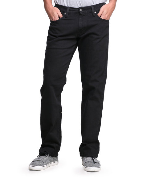 Levi's - Men Black 514 Slim Straight Fit Black Jeans