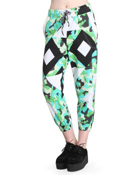 This is a Love Song - Radar Pants W/ Faux Leather Trim