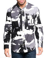 BLVCK SCVLE - Cobra Commander Splatter Camo L/S Button-down