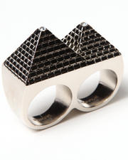 BLVCK SCVLE - Pyramid 2 Finger Ring