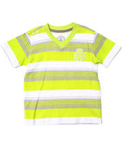 Akademiks - STRIPED V-NECK TEE (2T-4T)