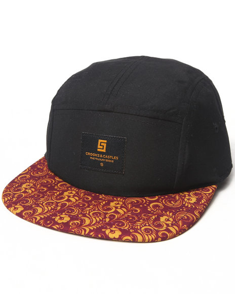 Crooks & Castles Sultana Woven 5-Panel Cap Black