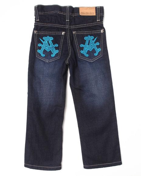 Akademiks - Boys Dark Wash Neon Pop Jeans (4-7)
