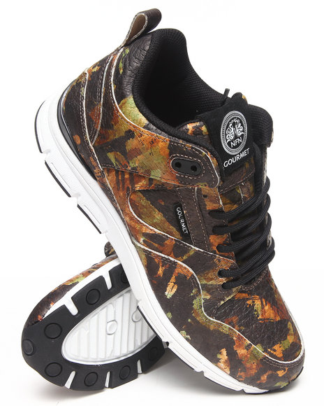 Gourmet - Men Green The 35 Lite Camo Sneakers