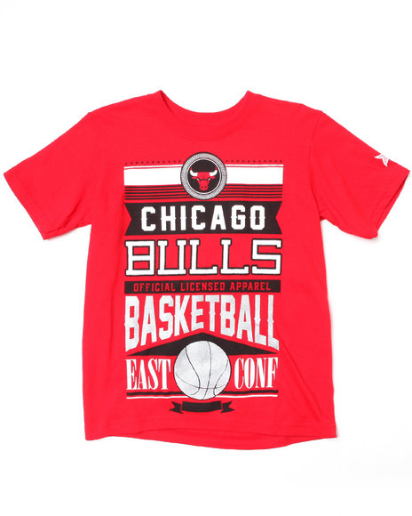 Nba Mlb Nfl Gear - Boys Red Chicago Bulls Rafters Tee (8-20)