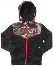 NBA MLB NFL Gear - CHICAGO BULLS COMMANDO HOODIE (8-20)