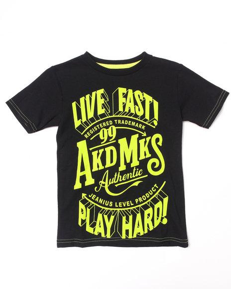 Akademiks - Boys Lime Green Neon Live Fast Tee (4-7)