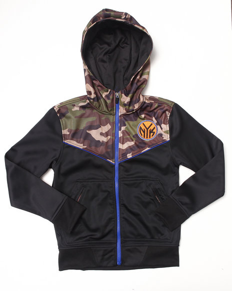 NBA MLB NFL Gear Boys Black,Camo New York Knicks Commando Hoodie (8-20)