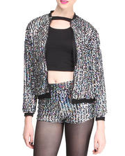 Outerwear - Sequin Bomber Jacket
