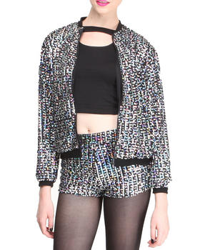 Motel - Sequin Bomber Jacket