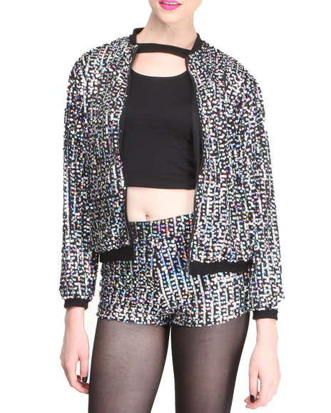 Motel Multi Sequin Bomber Jacket