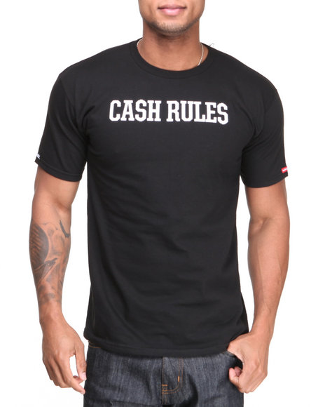 Crooks & Castles - Men Black The Cash Rule T-Shirt