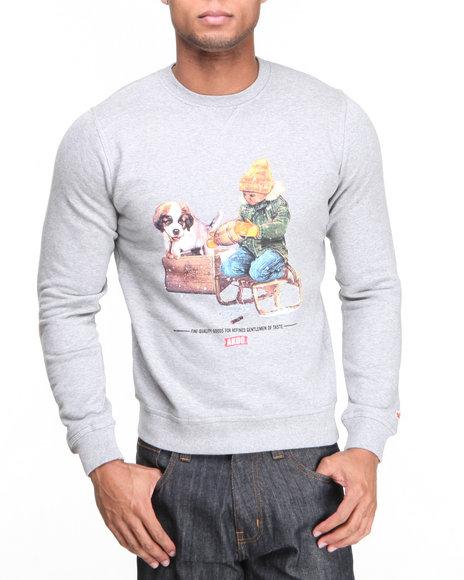 Akoo - Men Grey Timmy Pooch Sweatshirt - $59.99