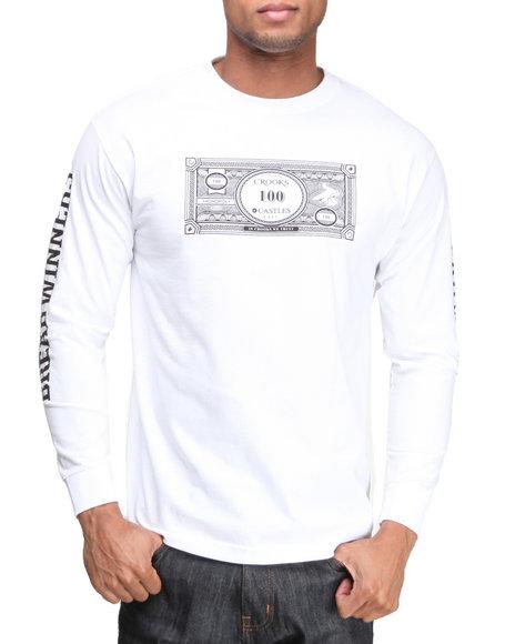 Crooks & Castles - Men White The Stacks L/S T-Shirt