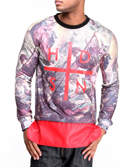 Hudson Nyc - Men Red Revelation Crewneck Sweatshirt